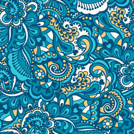 Seamless abstract hand-drawn pattern. Gorgeous seamless floral background. Vector illustration. Vector