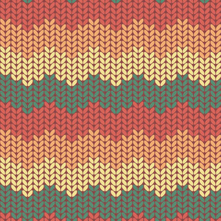 Seamless knitted pattern.  Seamless pattern can be used for wallpaper, pattern fills, web page background. Vector illustration. Vector