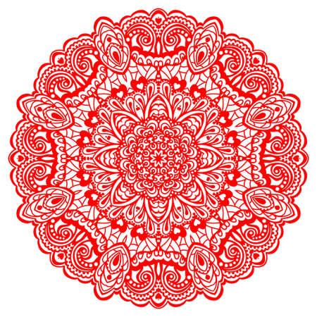 デザイン ベクトル イラストの抽象的な花曼荼羅装飾的な要素
