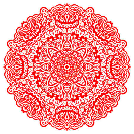 Abstract Flower Mandala  Decorative element for design  Vector illustration Фото со стока - 27322697