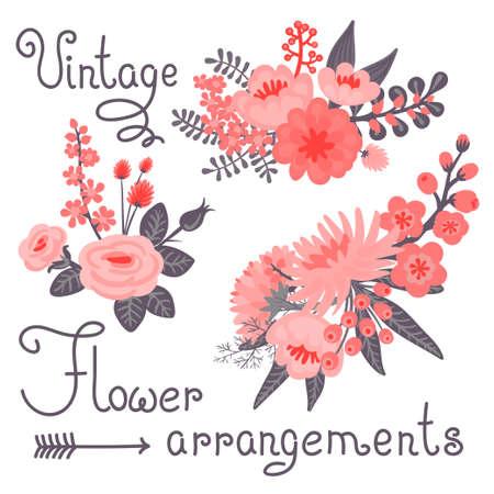 Vintage flowers  Cute flower for design  Vector illustration  Vector