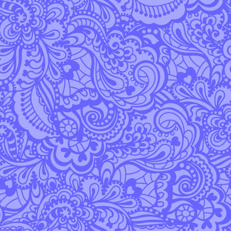 sea flowers: Seamless abstract hand-drawn pattern  Gorgeous seamless floral background  Vector illustration
