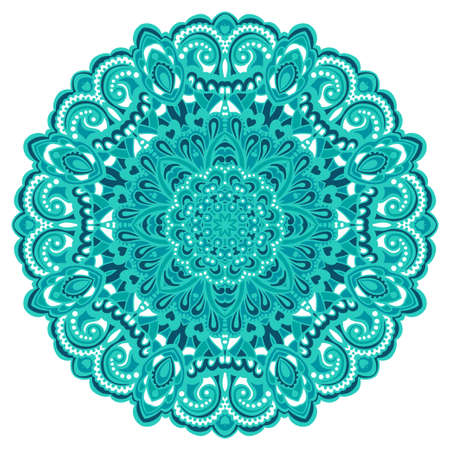 Abstract Bloem Mandala decoratieve element voor ontwerp Vector illustratie Stock Illustratie