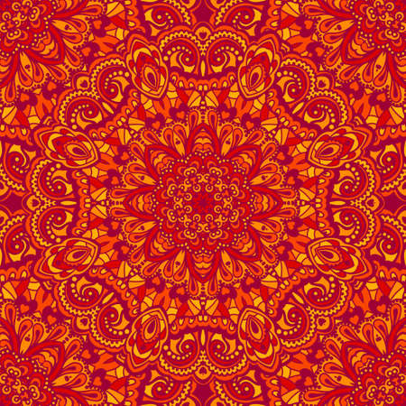 red indian: Oriental ornate seamless pattern.