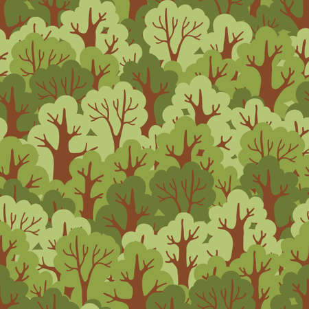 tropical evergreen forest: Seamless pattern with green deciduous forest