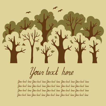 deciduous: Illustration of green deciduous forest