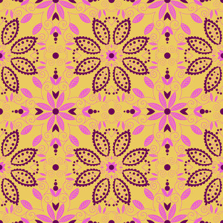 Oriental traditional ornament. Seamless pattern. Vector illustration Vector