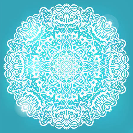 new yea: Abstract Flower Mandala. Decorative element for design illustration. Illustration