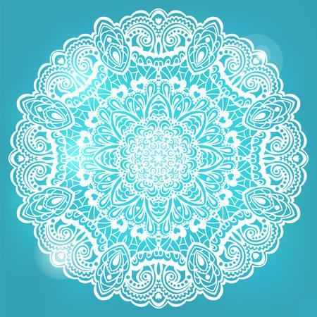 new yea: Mandala de la flor abstracta. Elemento decorativo para el dise�o ilustraci�n.