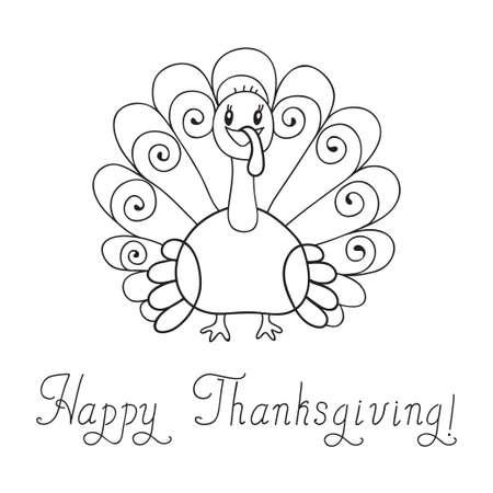 turkey thanksgiving: Ilustraci�n de acci�n de gracias el pavo de Acci�n de Gracias D�a de plantillas Vector Vectores