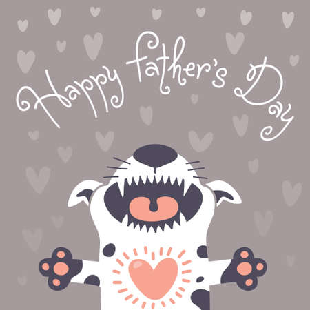 Card Happy Father Vector