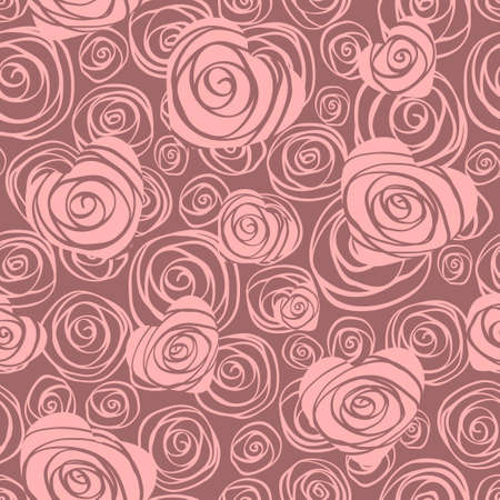 Abstract seamless pattern with hearts and roses Vector
