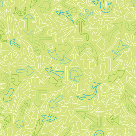 turn back: Seamless pattern with different arrows  Vector illustration