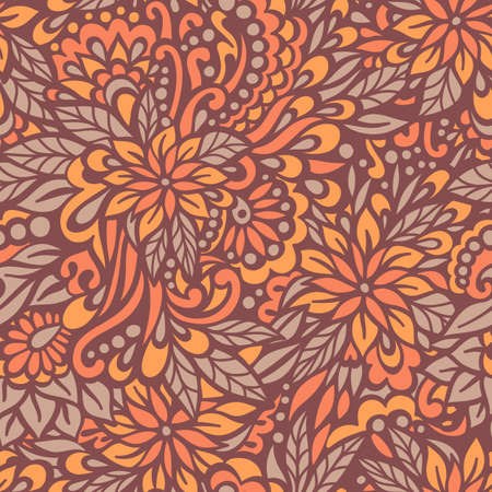 herbstblumen: Herbst Blumen Nahtlose dekorativen Muster Vektor-Illustration