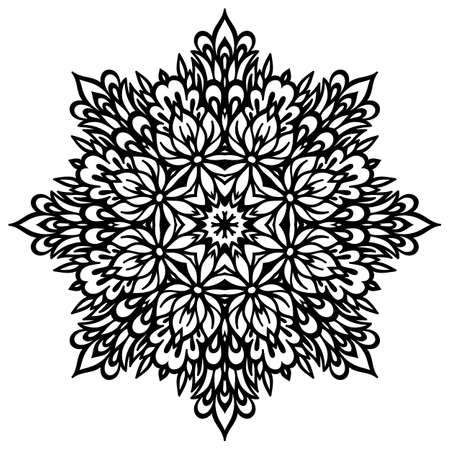white napkin: Abstract Flower Mandala. Decorative element for design.  Illustration
