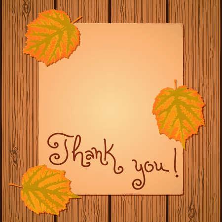 Happy Thanksgiving Background. Card for congratulation. Vector illustration. Vector