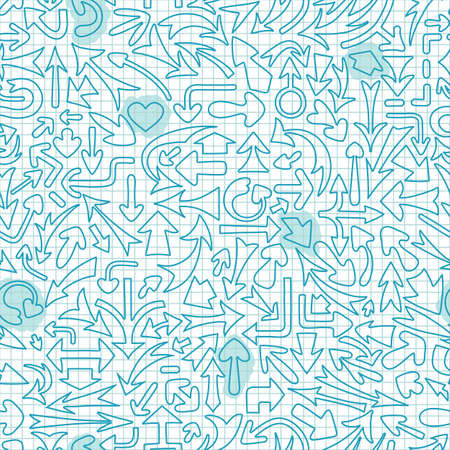 Seamless pattern with different arrows. Vector illustration. Vector