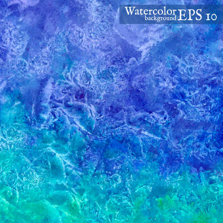 Vector watercolor background. Abstract art hand paint. Vector illustration. Vector
