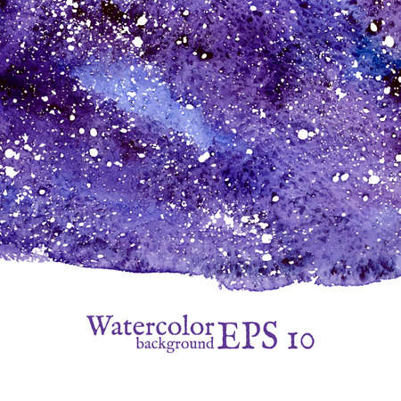 Blue space background. Blue watercolor banner template. Painting. Vector illustration with empty space for your text Vector