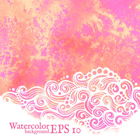 Vector watercolor background. Painting. Vector isolated illustration. Vector