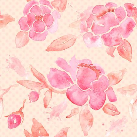 Papel pintado inconsútil con las flores de peonía. Foto de archivo - 33048805