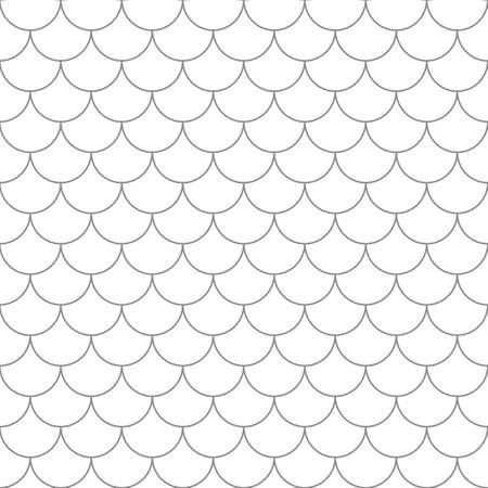 魚のうろこのシームレスなパターン。ベクター内の単純なシームレスな背景。  イラスト・ベクター素材