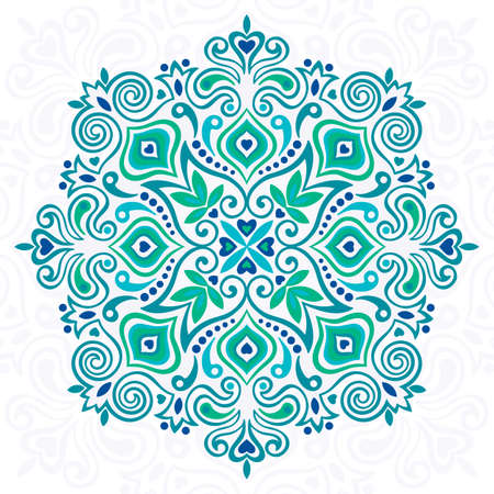 Abstract Flower Mandala. Decorative element for design. Vector illustration. Ilustração