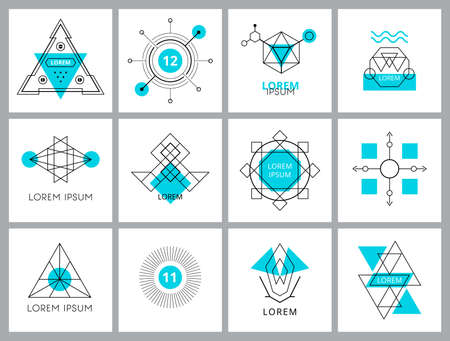 Futuristic Geometric Hipster Elements and . Vector illustration. Vector