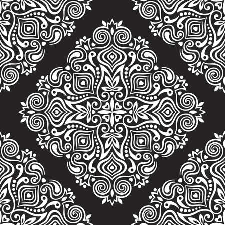 drawing on the fabric: Seamless background with abstract ethnic pattern. Vector illustration. Illustration