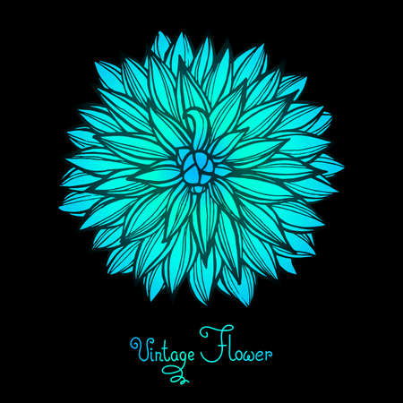 Bright Dahlia Flower Isolated for design. Vector Illustration. Vector