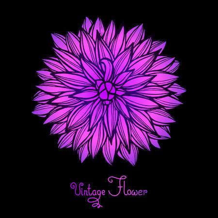 Heldere Dahlia bloem geïsoleerd voor het ontwerp. Vector Illustratie.