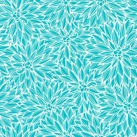 dahlia: Seamless pattern with flowers Dahlia. Vector Illustration. Illustration