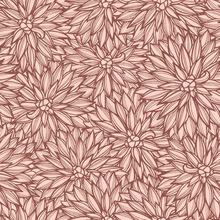 dahlia: Seamless pattern with dahlia flowers