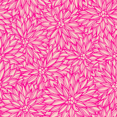 Seamless pattern with flowers Dahlia. Vector Illustration. Vector