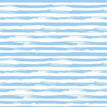 Vector naadloos patroon met blauwe penseelstreken. Gestreept patroon geïnspireerd door marine uniform. Textuur voor web, print, behang, woondecoratie of website achtergrond Stockfoto - 42286774