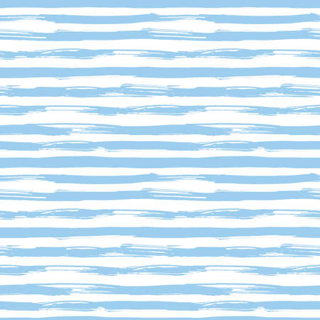 Vector seamless pattern with blue brush strokes. Striped pattern inspired by navy uniform. Texture for web, print, wallpaper, home decor or website background