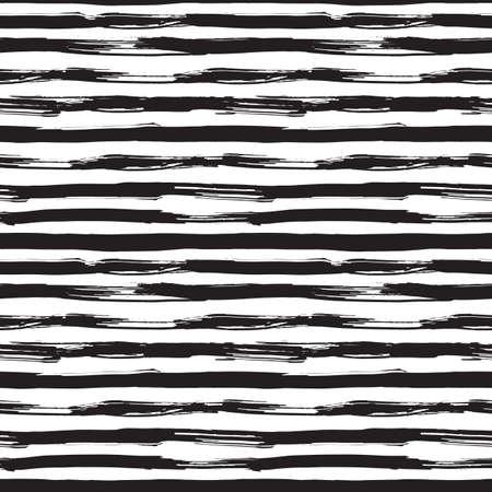 brocha de pintura: Vector sin patrón, con pinceladas negras. Monocromo dibujado a mano textura. Diseño gráfico moderno hecha con tinta.