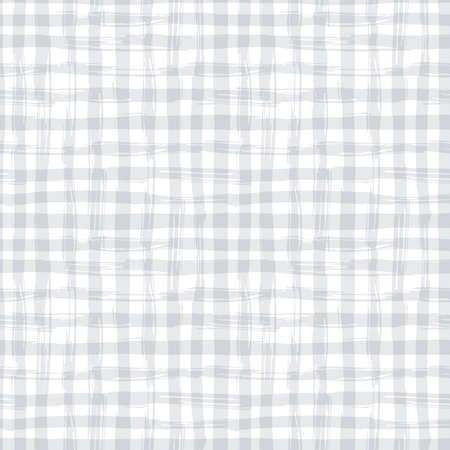 seamless texture tiré par la main carré. Gris nappe à carreaux.