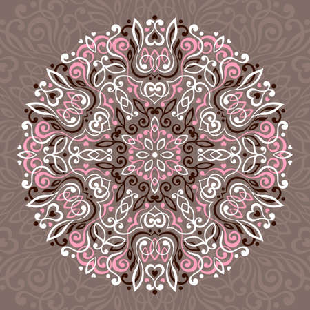 napkin: Abstract Flower Mandala. Decorative ethnic element for design. Vector illustration.