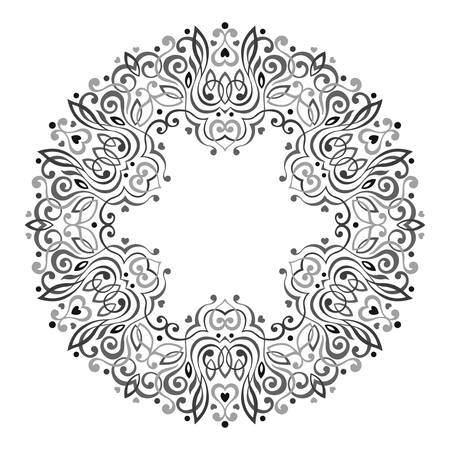geometric lines: Abstract Ornate Mandala. Decorative frame for design. Vector illustration.