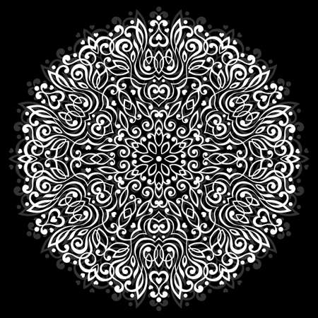 Resumen de la mandala de la flor. elemento decorativo para el diseño étnico. Ilustración del vector.