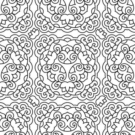 decorative design: Seamless background with abstract ethnic pattern. illustration. Illustration