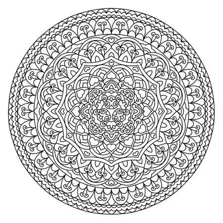 white napkin: Abstract Flower Mandala. Decorative ethnic element for design. Vector illustration.