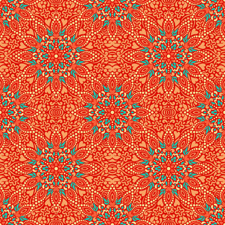 Seamless background with abstract ethnic pattern. Vector illustration. Illustration