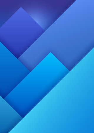 Material Design Background with Mountain Landscape.