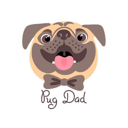 Image of happy father dog.