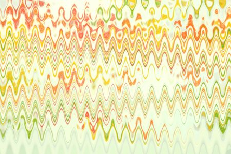 Multicolored frequent waves on the white background. Abstract illustration, text place