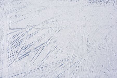 Top view of the ski slope. Winter sports background