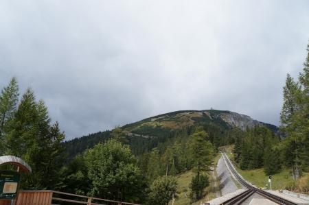 h�tte schnee: �sterreich, Schienen der Zahnradbahn zum Schneeberg-Berg