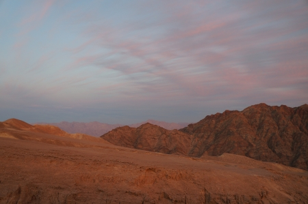 Sunset near Eilat, Yehoash mountain photo